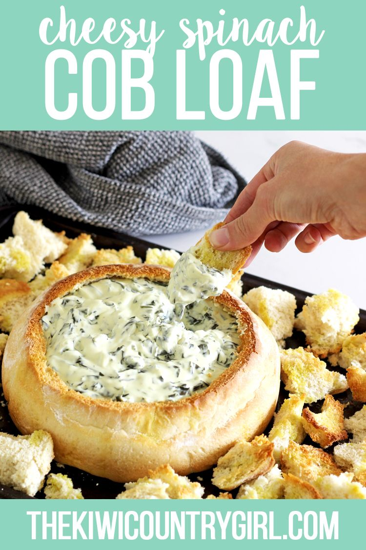Cheesy Spinach Cob Loaf | The Kiwi Country Girl