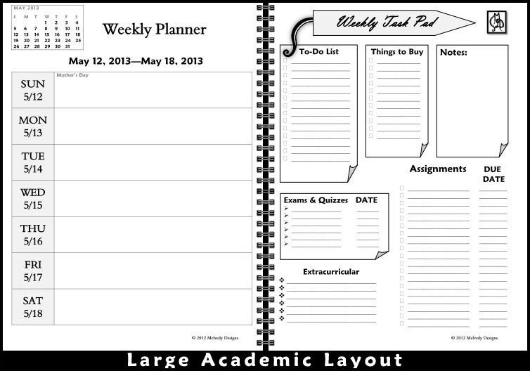 Love these customized planners from Melvedy Designs