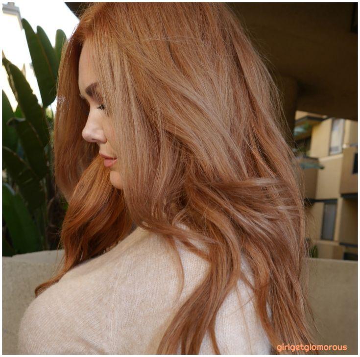 Erdbeerblondes Haar zu Hause Formel