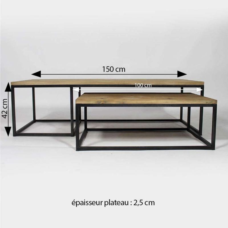 table basse industrielle gigogne
