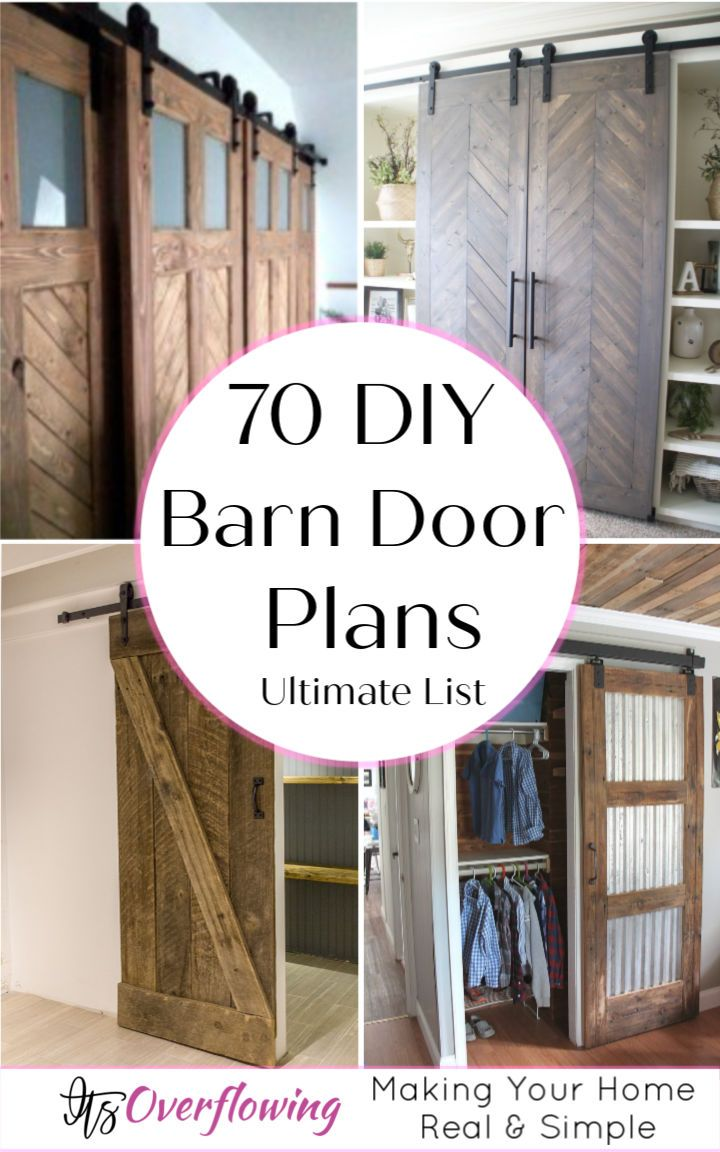 70 Diy Barn Door Plans And Ideas To Build Your Own Door Diy Barn Door Plans Diy Barn Door Home Crafts