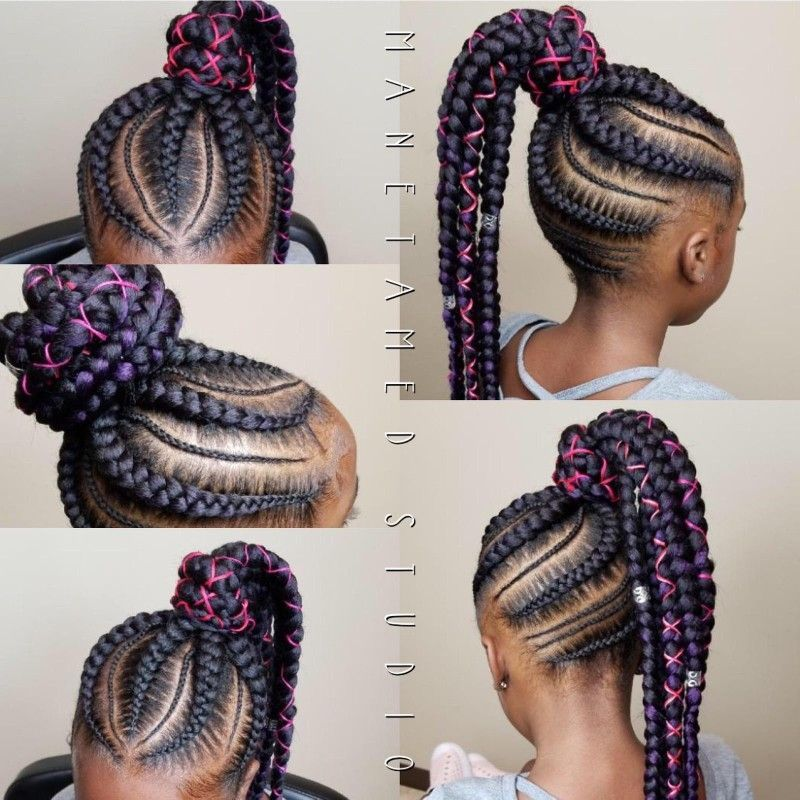 Kids braids. Kids styles. Kids feed in braids. Braided