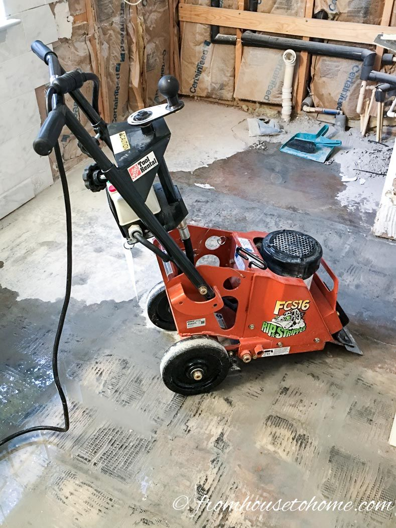 The Best Way To Remove Thinset From Concrete From House To Home Concrete Grinder Cleaning Hacks Cleaning Painted Walls