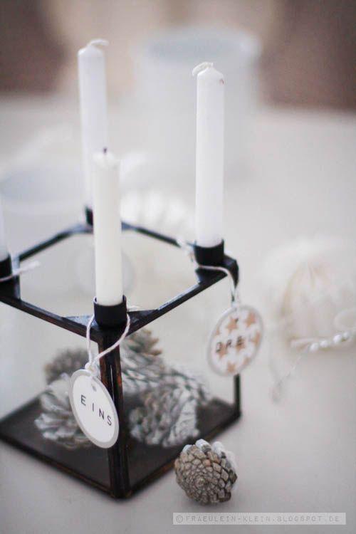 adventskranz fr ulein klein kubus christmas. Black Bedroom Furniture Sets. Home Design Ideas