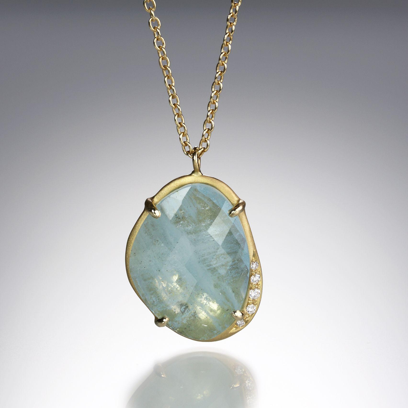 Quadrum anahita aquamarine slice on chain jewelry pinterest