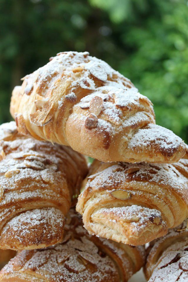 We also have yummy breakfast croissants in sweet and savory varieties