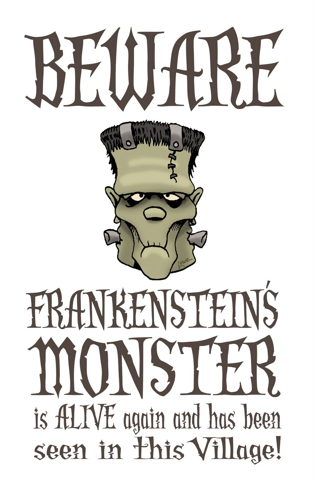 Uncategorized Printable Scary Halloween Pictures free frankenstein halloween printable printables