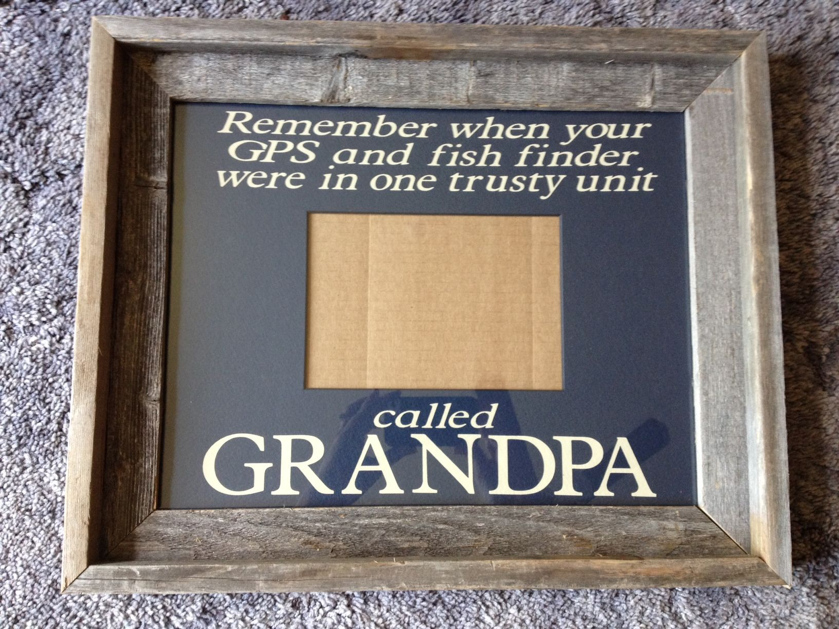 I did this frame for my grandpas 80th birthday barn wood frame i did this frame for my grandpas birthday barn wood frame with custom cut mat embellished with vinyl lettering cut from my cricut using plantin jeuxipadfo Choice Image