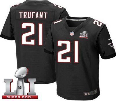 Nike Falcons #21 Desmond Trufant Black Alternate Super Bowl LI 51 Men's Stitched NFL Elite Jersey