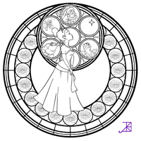 Sg Line Arts By Akili Amethyst On Deviantart Disney Stained Glass Disney Princess Coloring Pages Princess Coloring Pages