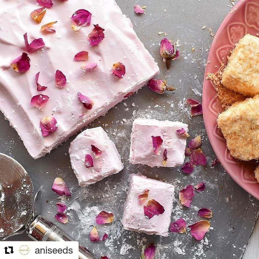 Repost Aniseeds Get Repost Pretty In Pink Today With These Beautiful Rose Marshallows By Dessert Recipes Easy Recipes With Marshmallows Easy Desserts