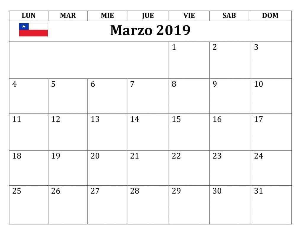 Marzo Calendario.Calendario Excel 2019 Teriz Yasamayolver Com
