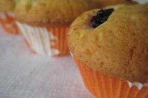 Muffins à la confiture de cassis