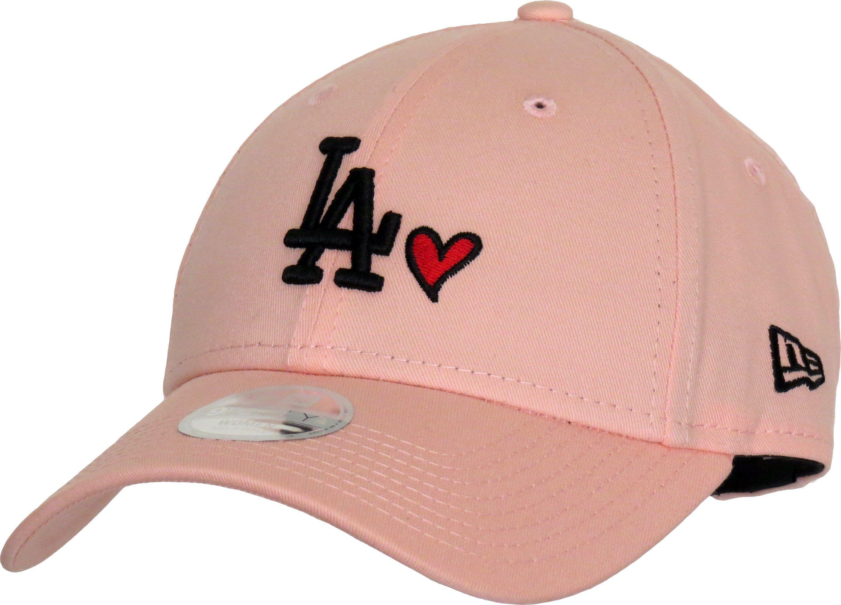 La heart womens new era 940 pink baseball cap pink