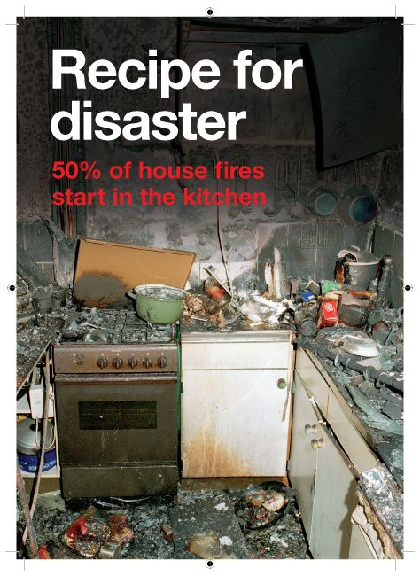 Cooking Fires Poster Half Of All House Fires Start In The Kitchen