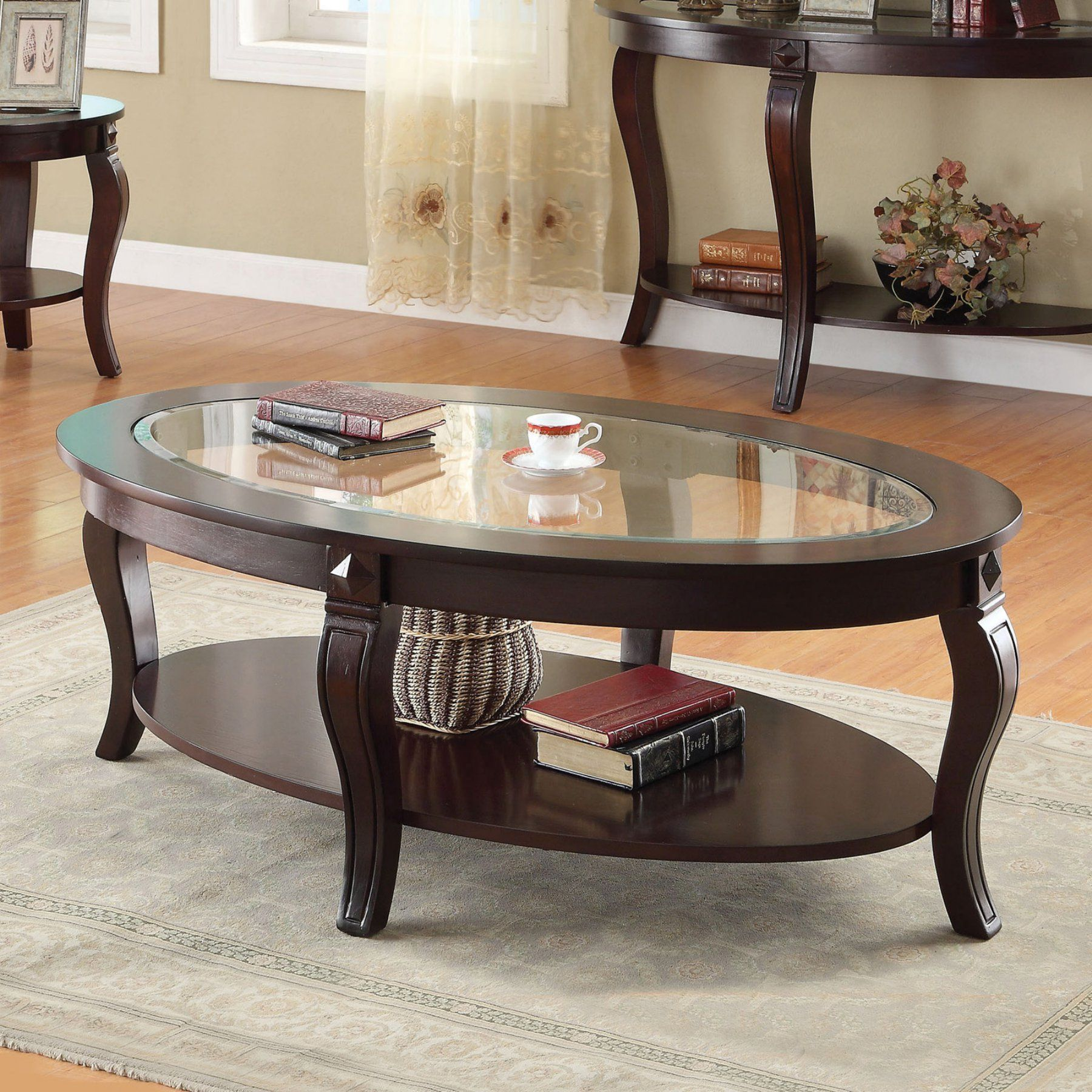 Fantastic Acme Furniture Riley Walnut And Glass Coffee Table 450 Machost Co Dining Chair Design Ideas Machostcouk