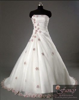 Gorgeous flowing Wedding gown with purple flowers. My all time ...