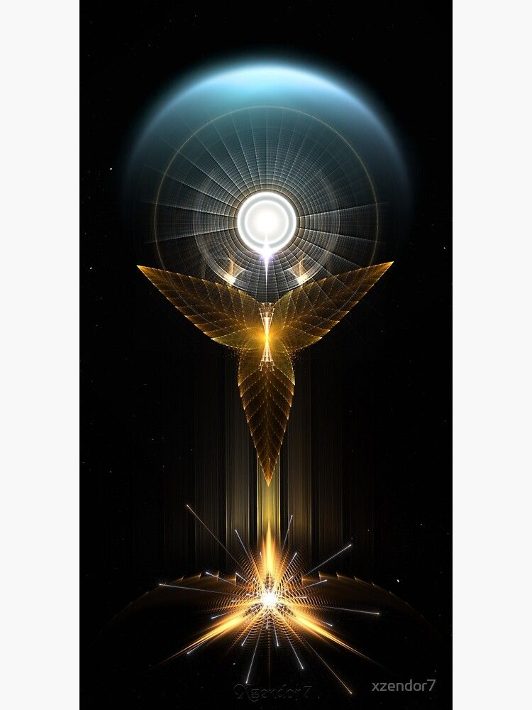 The Light Of Hope On Golden Wings Metal Print