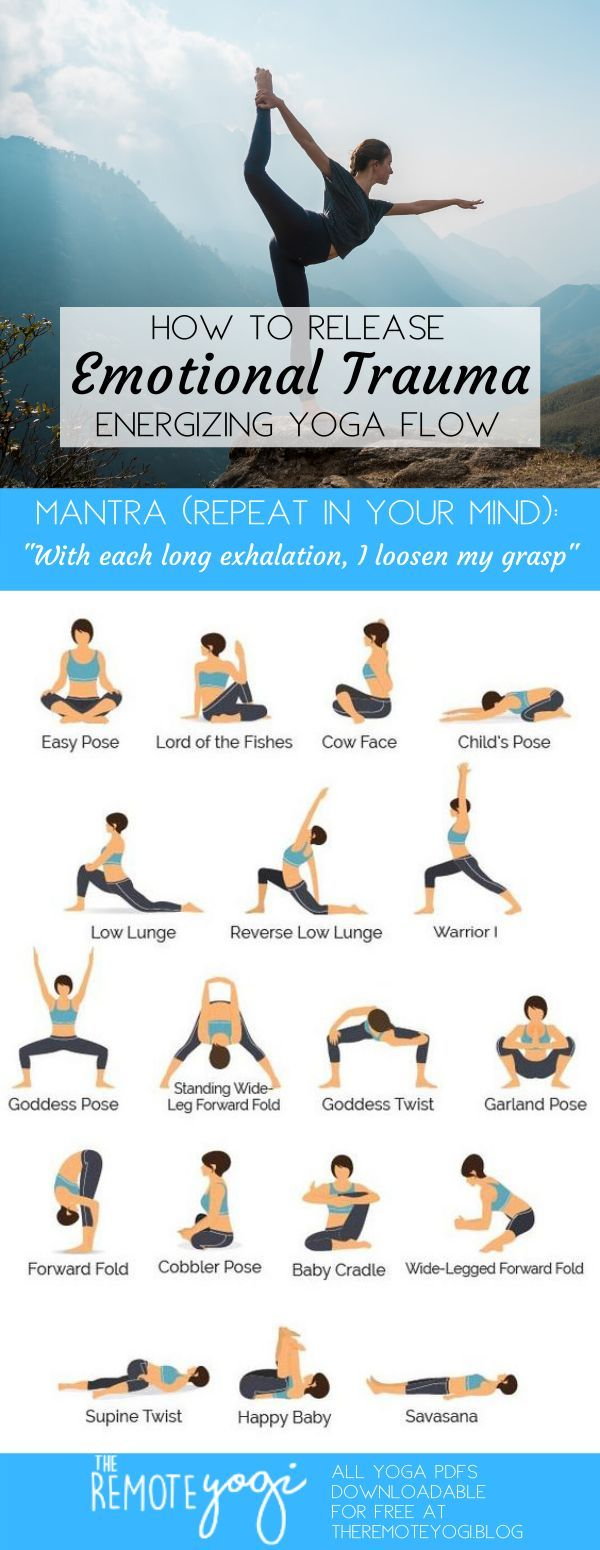 Yoga to Release Emotions – Printable Yoga PDF