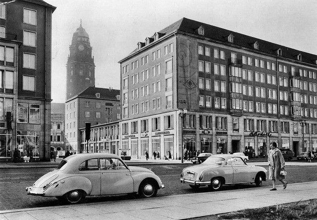 DDR Postcard Dresden 1963 by sludgegulper, via Flickr