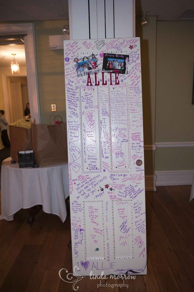 Bar Mitzvah Ideas What A Sweet Idea Guests Sign Door To Go In Her Bedroom This Would Also Be Great For Birthday Linda Morrow Photography