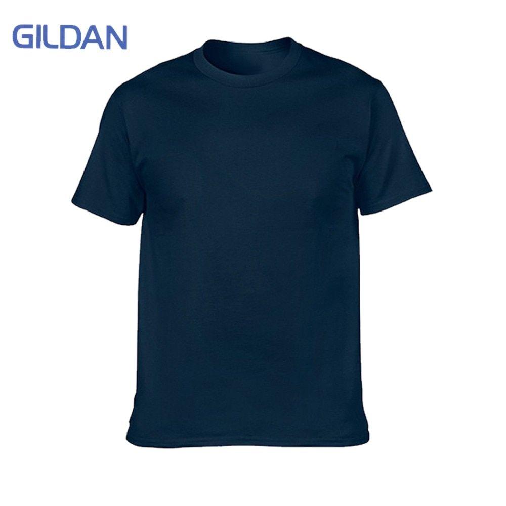 457d4d8f802 GILDAN  Brand  Blank  T-Shirt  Men  Short  Sleeve  Tshirts  Solid  100%   Cotton  Homme  Tee  Shirt  3XL  Summer  Men  Clothings  Plus  Size