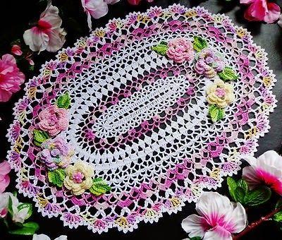 Toalhas de mesa de crochê  - PaP Como fazer