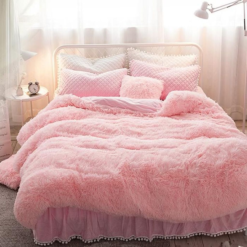 32 Stunning Bedding Ideas For Cozy Bedroom Pink Bedrooms Bed