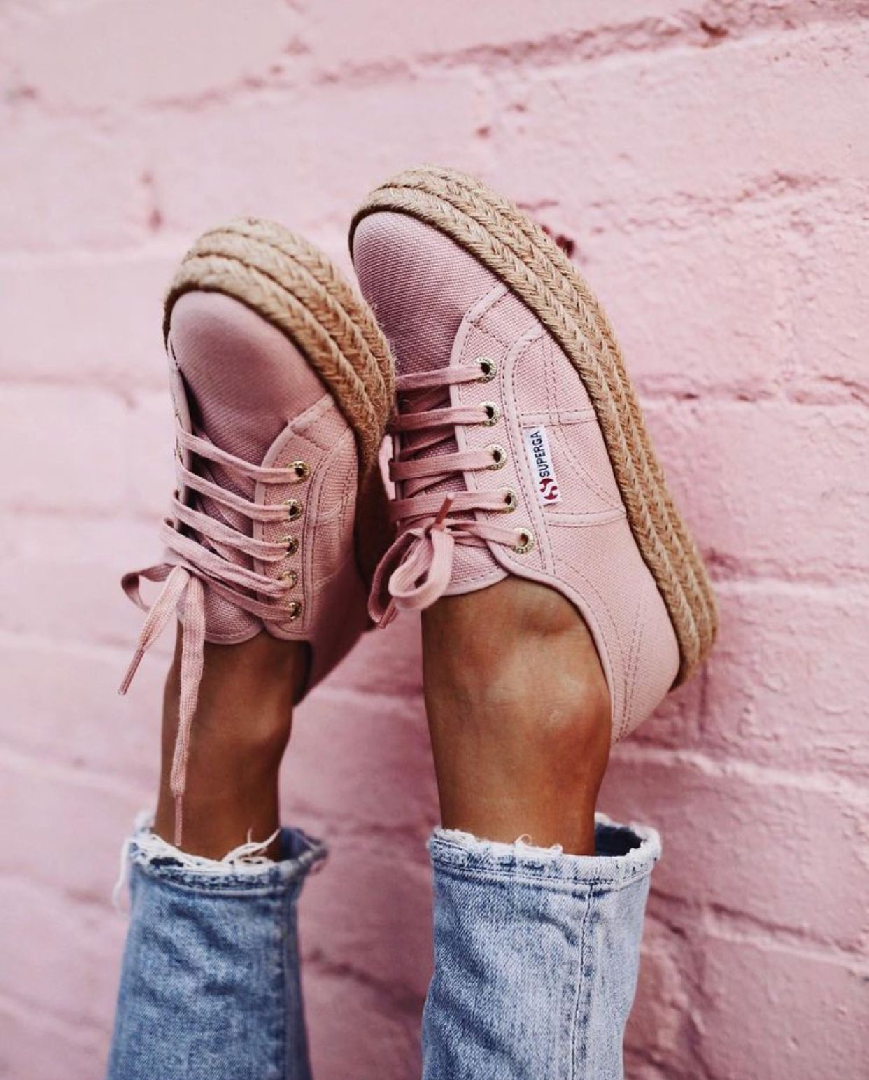 Superga | Pink espadrilles, Pink shoes