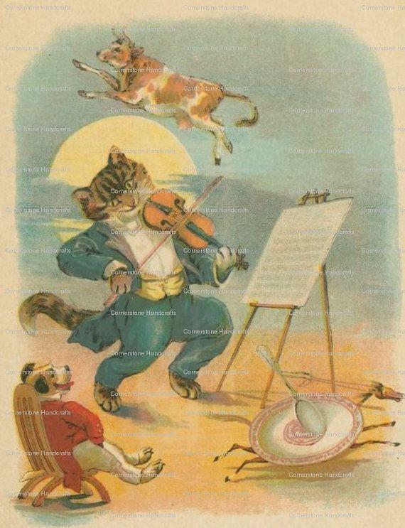 5 Vintage Nursery Rhyme Art Prints Instant Digital By Joapan 1 49