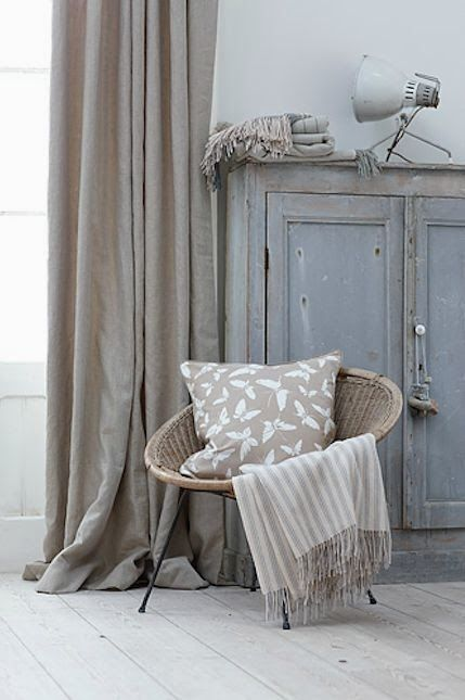 Lniane zasłony window treatments Pinterest Haus, Zuhause und