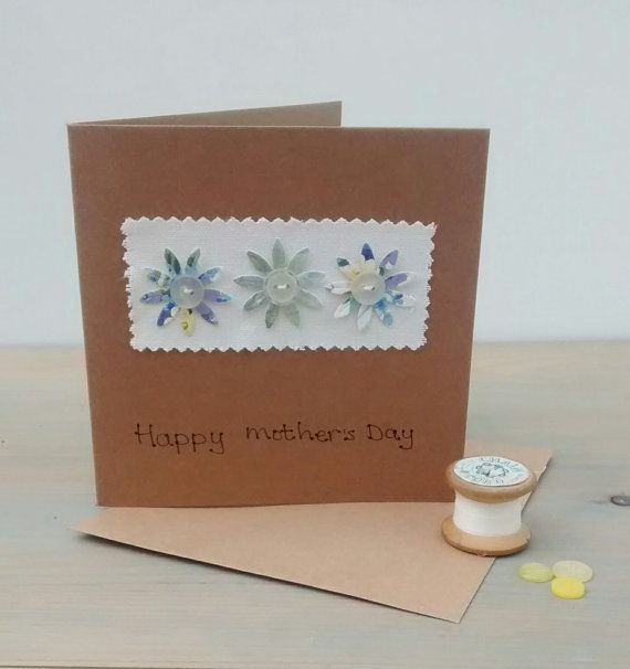 Mothers Day Card Happy Mother's Day Textiles by KathHeywoodDesigns