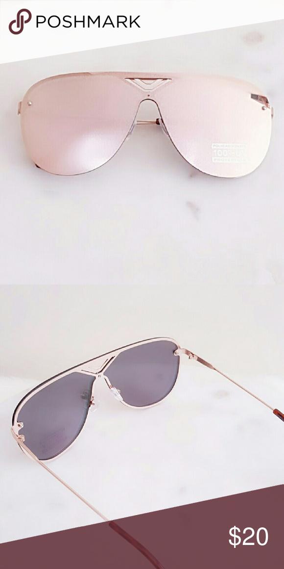 """Fashionable Retro Sunglasses Fashionable Retro Sunglasses  * 6 x 2.4"""" approx. Rose Gold Accessories Sunglasses"""