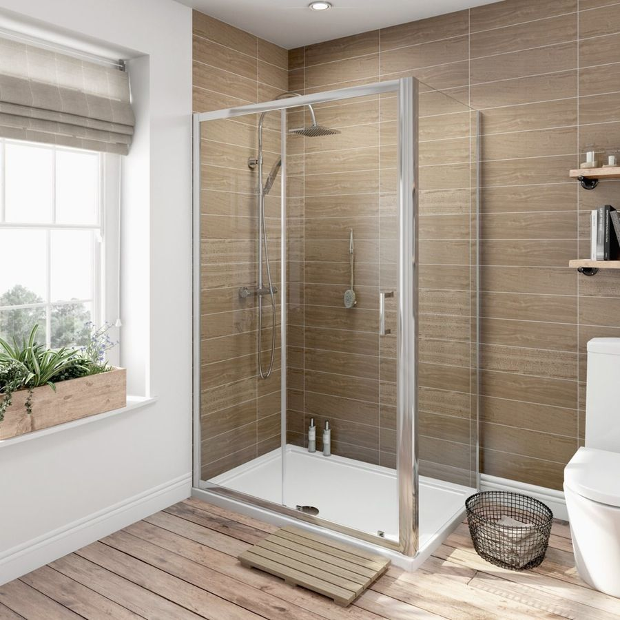 6mm Sliding Shower Enclosure With Tray 1000 X 800 Pinterest