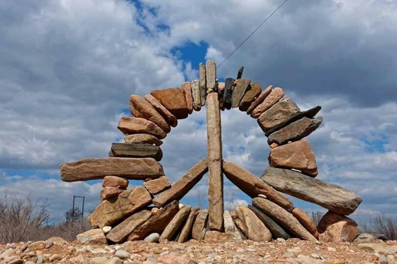 American Hippie ☮ Peace Stone Art Peace Art Hippie Art