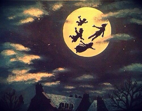 Peter Pan Flying To The First Star To The Right And Straight On Til