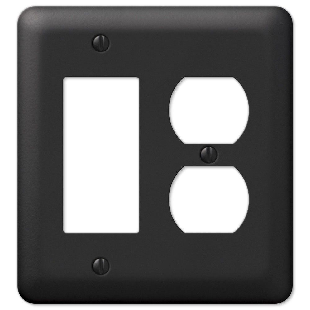 Black Wall Socket Covers Pleasing Amerelle Devon 935Rdbk Black Rocker Gfci Duplex Outlet Cover Wall Review