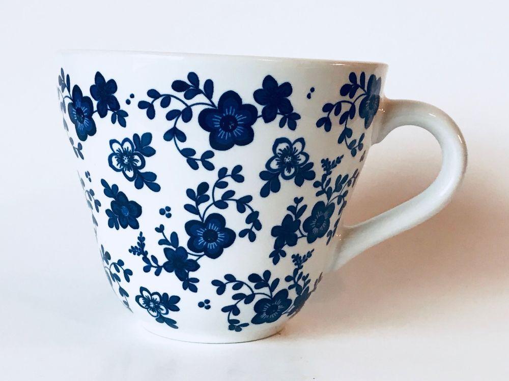 Ikea Jamnt Coffee Mug Ceramic White Blue Flowers 18431 Htf Rare Collectible White And Blue Flowers Mugs Coffee Mugs