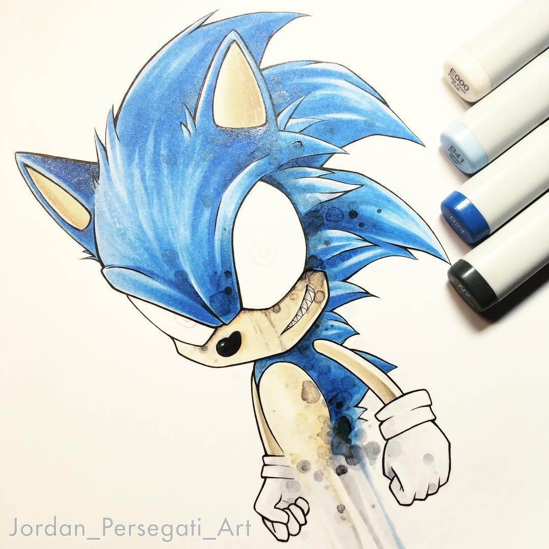 Adding Some Layers To This Sonic Drawing Still A Bit Of Work To
