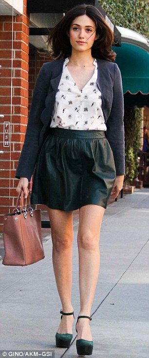 Green leather mini skirt – Modern skirts blog for you