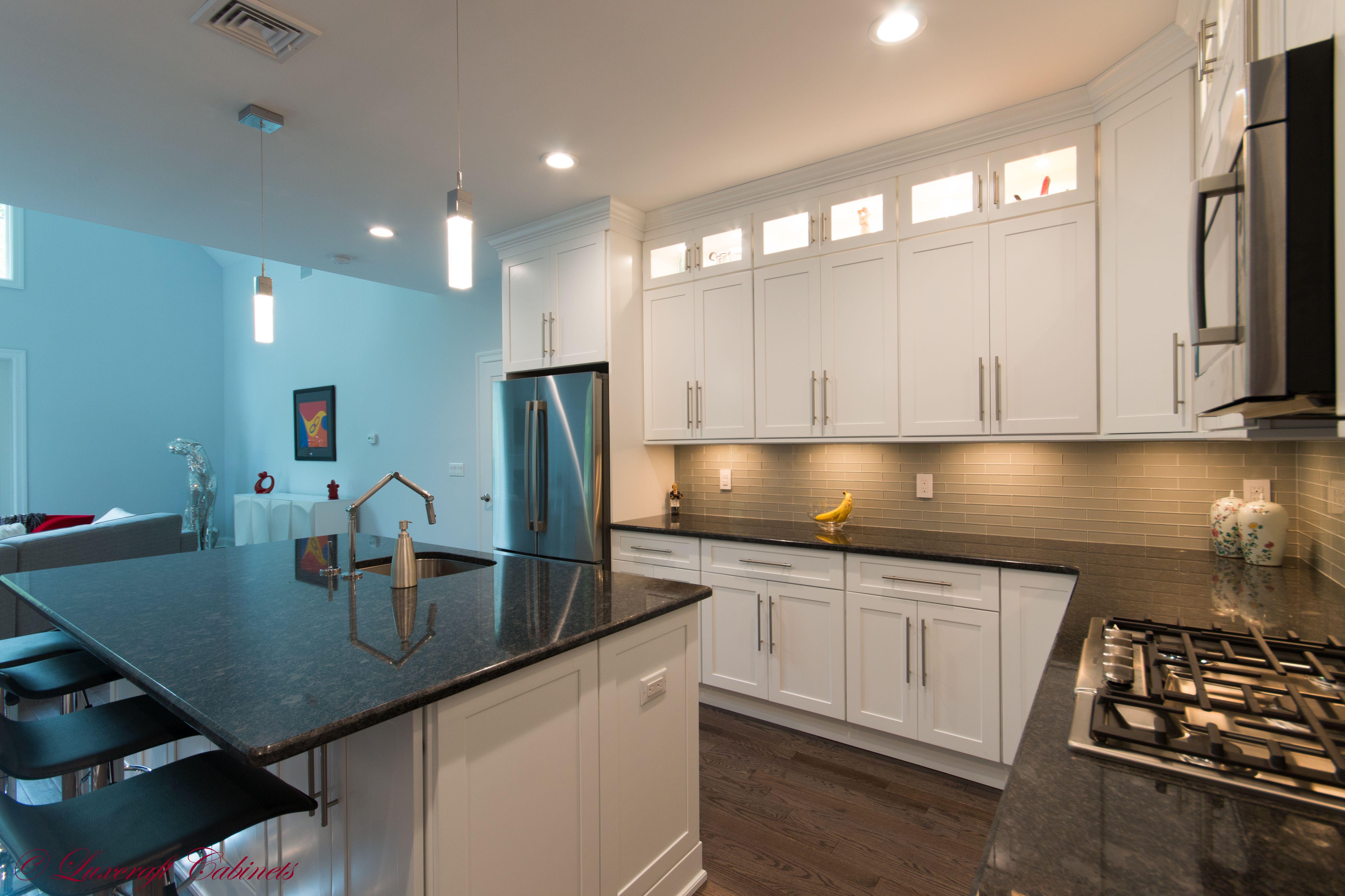 Best Fabuwood Galaxy Frost White Shaker Kitchen Interior 400 x 300