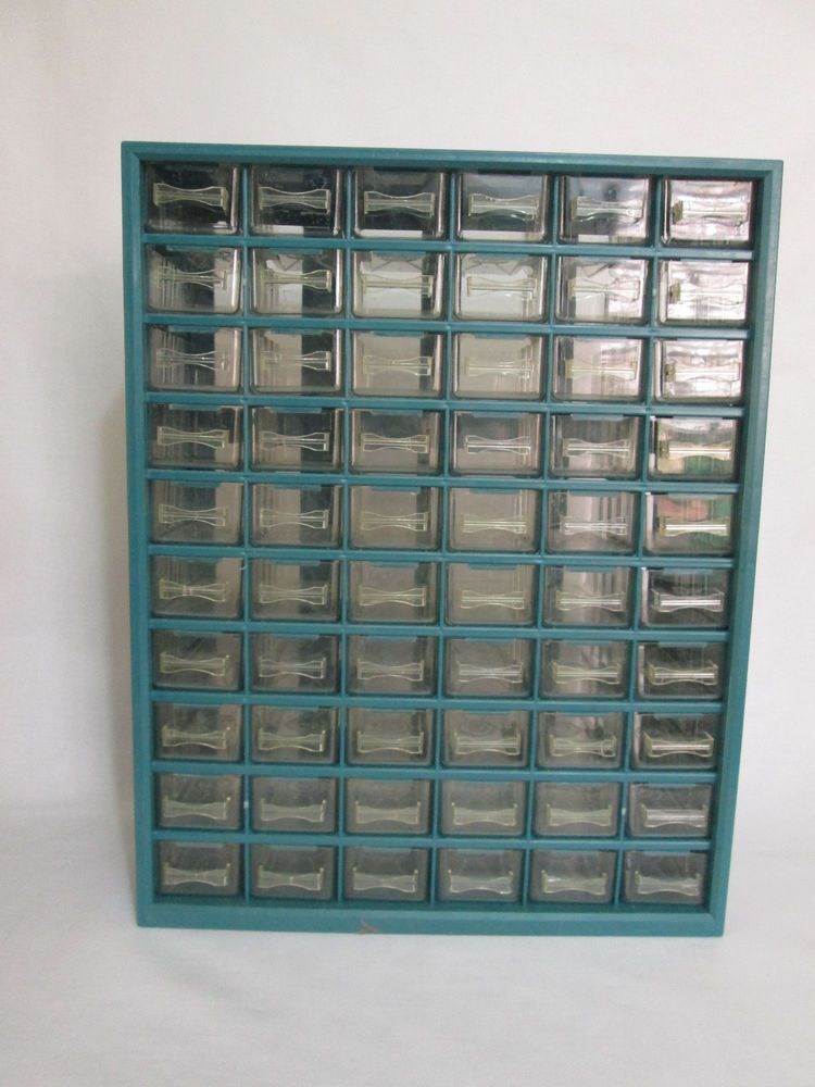 60 Drawer Storage Bin Nut And Bolt Cabinet Hardware Home Organizer