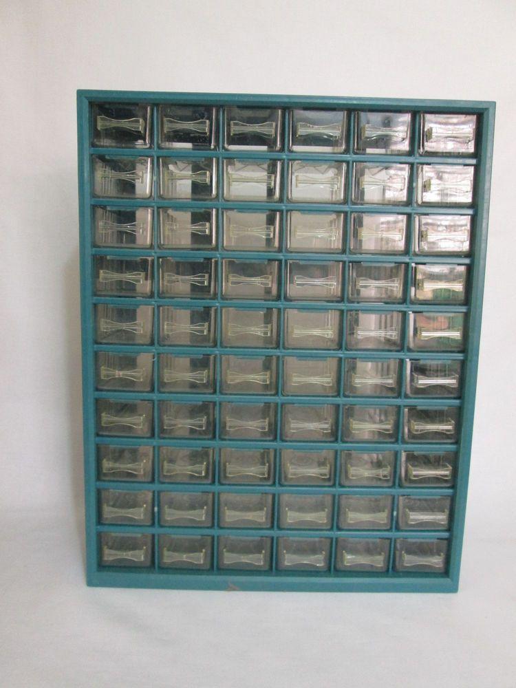 60 Drawer Storage Bin Nut And Bolt Cabinet Hardware Home Organizer