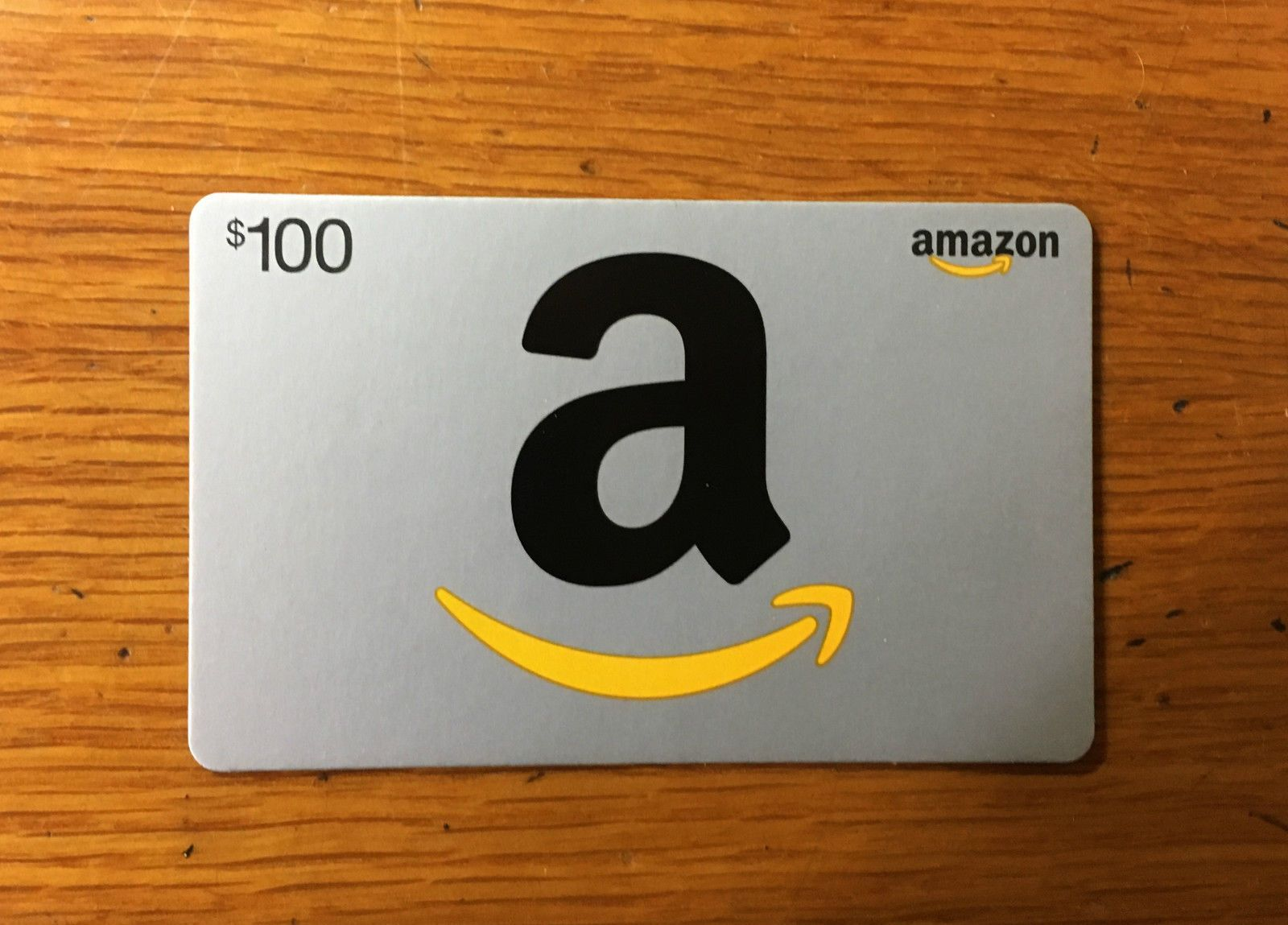 100 amazon gift card physical card will be shipped free