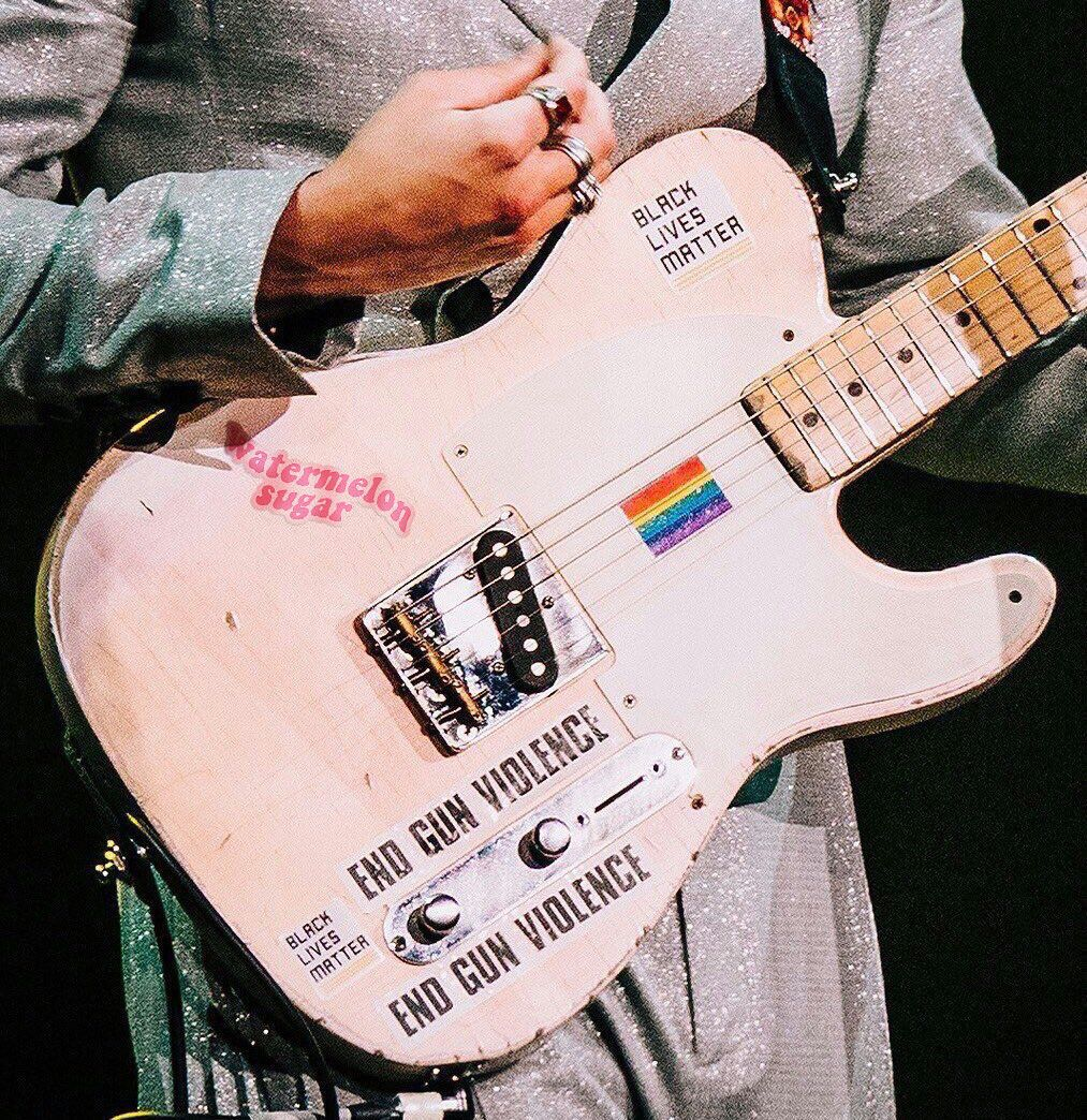 Harry Styles Watermelon Sugar Sticker Guitar In 2020 Harry
