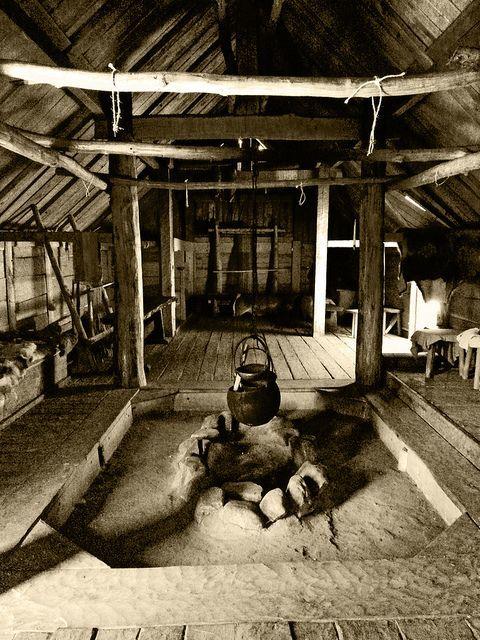 Lovely Viking Fireplace Part - 3: Fireplace Inside A Reconstructed Viking House - Trelleborg, Sweden