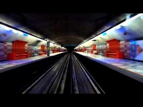 Métro de Montréal - Essai de train (nuit) ligne 5 - YouTube