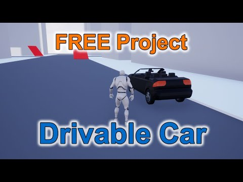 FREE Unreal Engine Project Drivable Car YouTube in