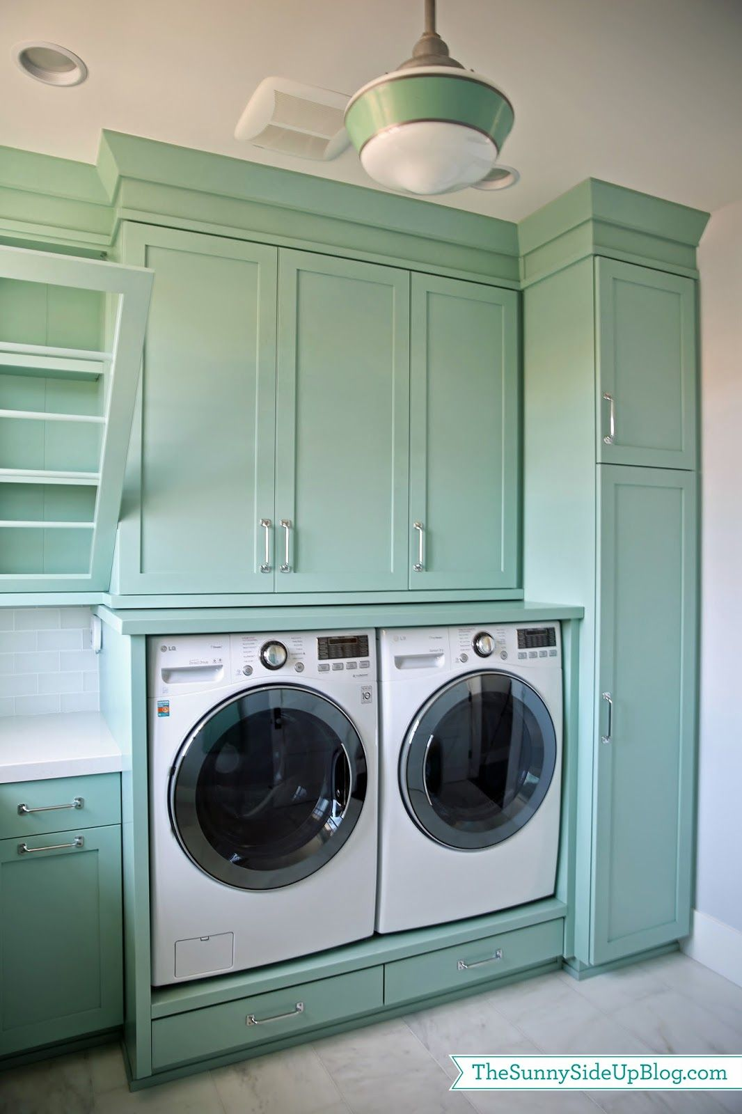 Upstairs Laundry Room Teal Laundry Rooms Laundry Room