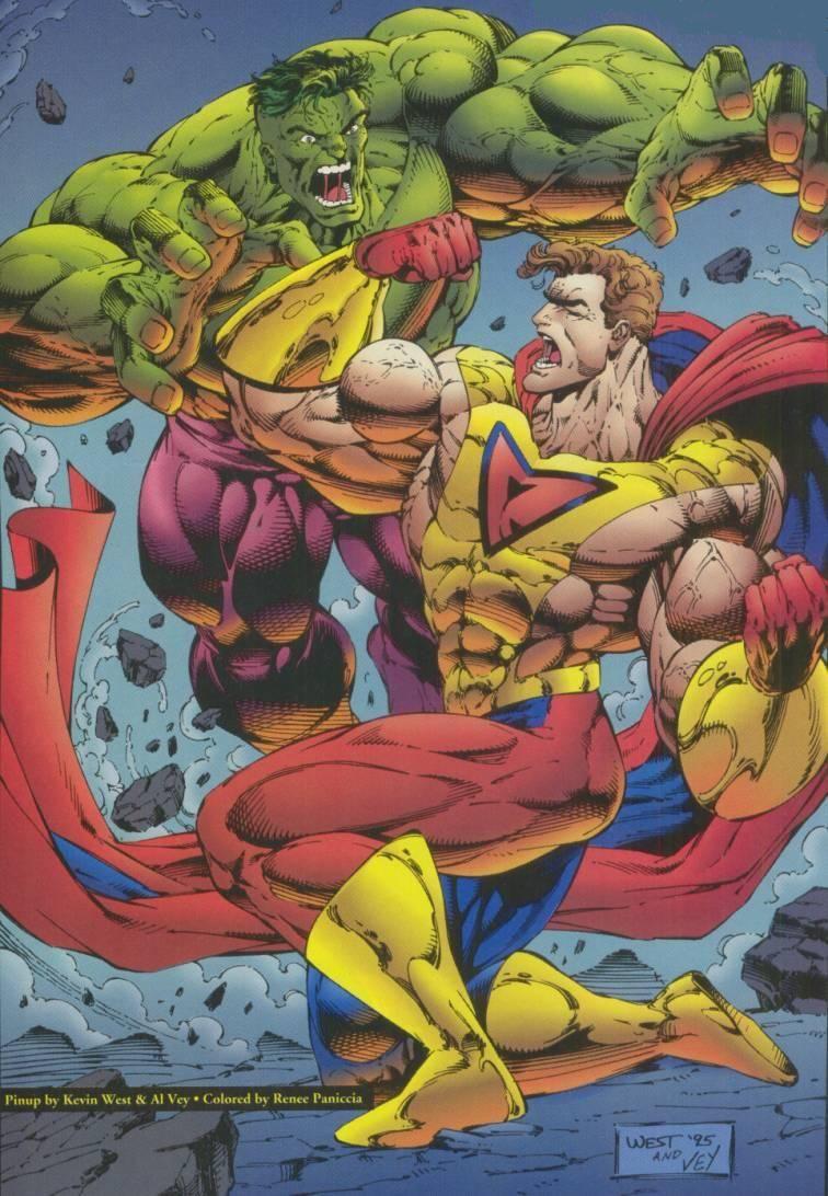 #Hulk #Fan #Art. (Prime vs Hulk pin up) By: Kevin West. (THE * 5 * STÅR * ÅWARD * OF: * AW YEAH, IT'S MAJOR ÅWESOMENESS!!!™)[THANK Ü 4 PINNING<·><]<©>ÅÅÅ+(OB4E)    http://static7.comicvine.com/uploads/scale_super/2/27596/558659-14.jpg